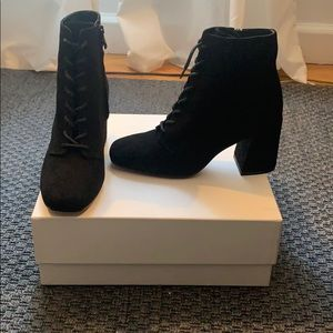 Brand new, never worn Vince lace up booties